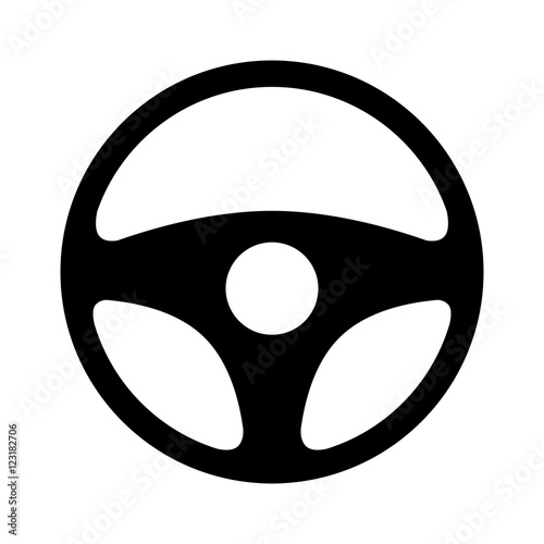 Car / automobile steering wheel or driving wheel flat icon for apps and websites Fototapet