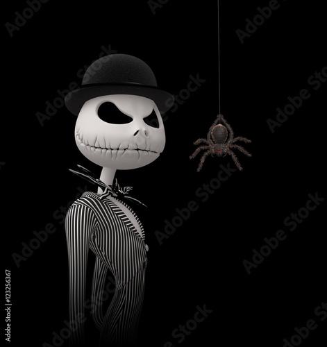 Valokuva It's Halloween night, Jack is going from door to door saying Trick or treat?
