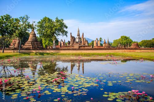 Photo sukhothai historical park, thailand.
