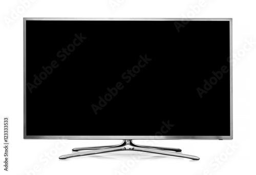 big led tv isolated on white background