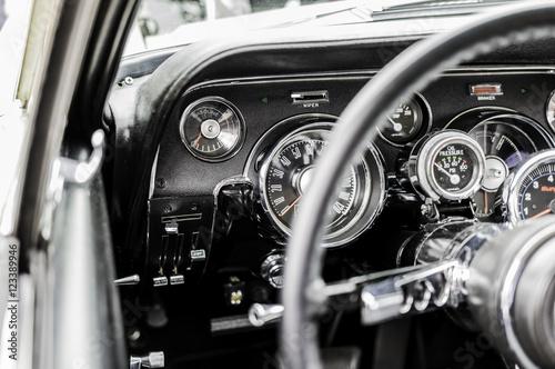 Mustang Steering Wheel dashboard Fototapeta