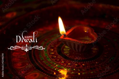 diwali with diya