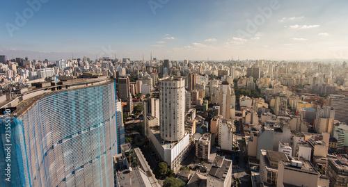 Sao Paulo Skyline with Famous Buildings