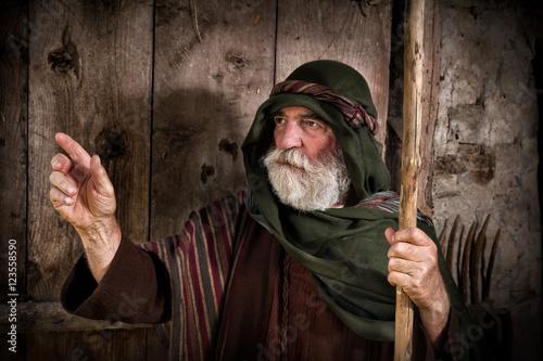 Peter denying knowing Jesus Fototapeta