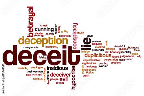 Photo Deceit word cloud
