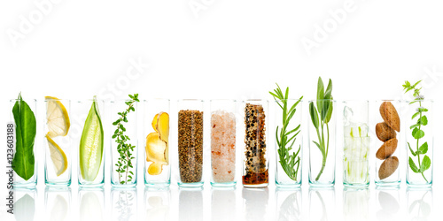Homemade skin care and body scrubs with natural ingredients aloe