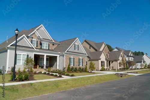Obraz na płótnie Street of large suburban homes