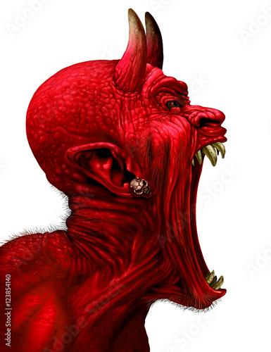 Carta da parati Devil Scream