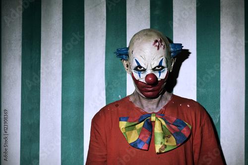 Fotografia scary evil clown in the circus