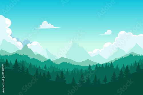 Forest and mount