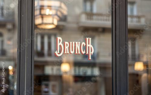 Obraz na płótnie Bistro banner in Paris