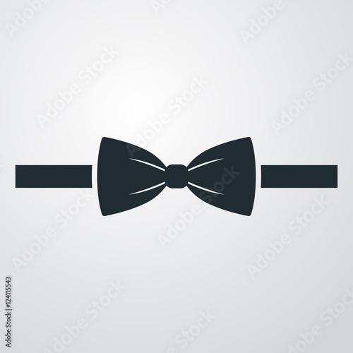 Fotografering Icono plano corbata de lazo sobre fondo degradado