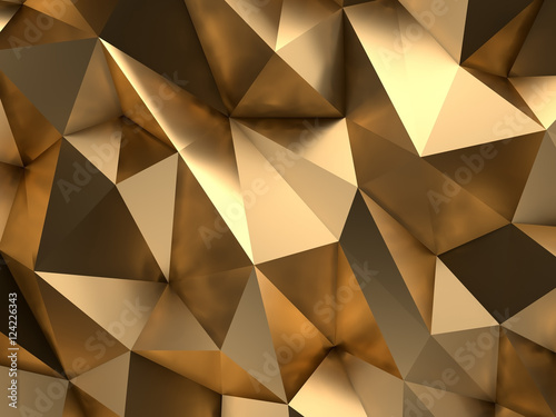 Luxury VIP Gold Abstract Background 3D Rendering