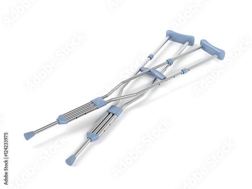 Underarm crutches Fototapeta