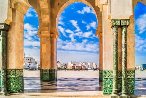 Morocco Casablanca architecture. / Scenic view in Casablanca town, Morocco Africa.