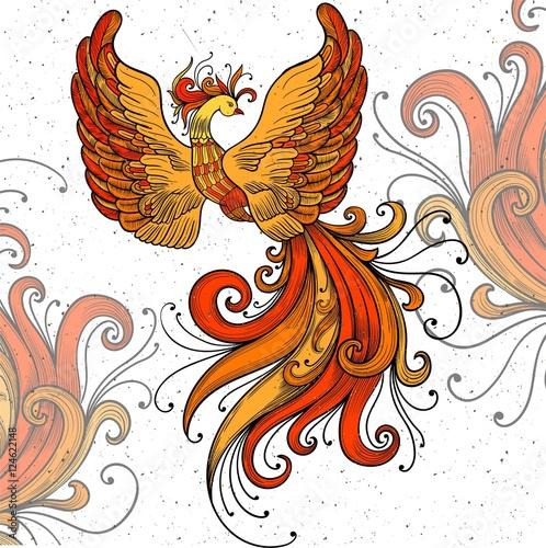 Wallpaper Mural Firebird vector clipart