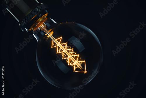 Canvastavla Decorative antique edison style light bulb