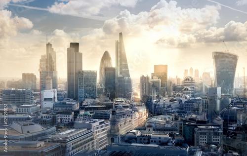 City of London at sunset. View on modern business district Tapéta, Fotótapéta