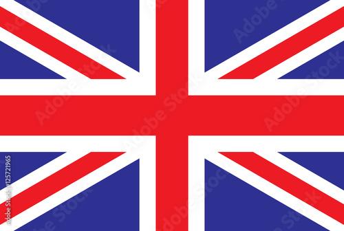 Canvas Print Great britain vector flag