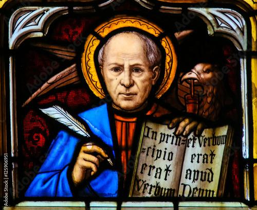 Stained Glass of the the Eagle - Saint John the Evangelist Fototapeta