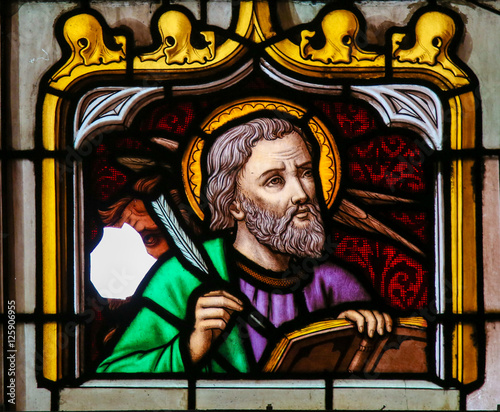 Fotografie, Obraz Stained Glass of St Mark the Evangelist