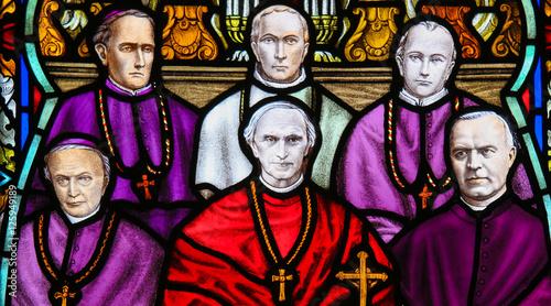 Fotografia, Obraz Cardinal Mercier - Stained Glass in Mechelen Cathedral
