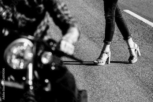 Couple de motards