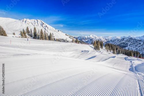 Canvas Print Fellhorn Ski resort, Bavarian Alps, Oberstdorf, Germany