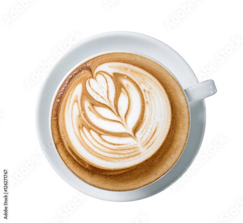Tableau sur Toile latte art coffee or mocha coffee