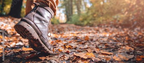 Fotografiet Hikers muddy boots