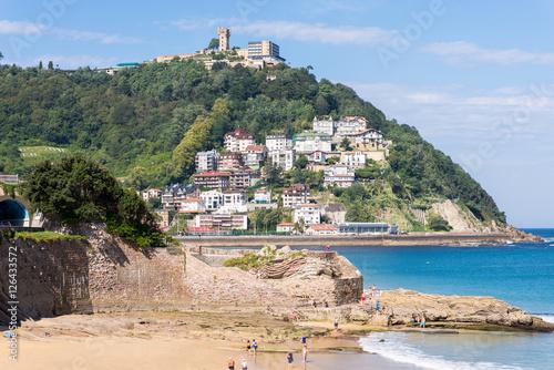 Tablou Canvas View to Igeldo, a quarter of San Sebastian