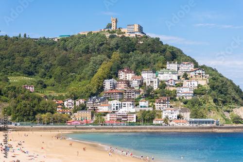 Tableau sur Toile View to Igeldo, a quarter of San Sebastian