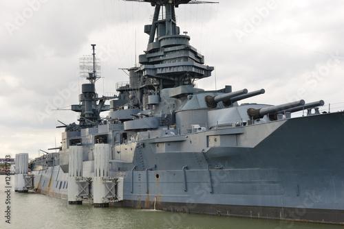 Wallpaper Mural The Battleship Texas in Houston, Texas