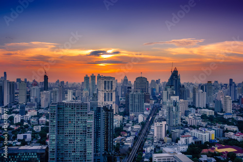 Bangkok Sonnenuntergang
