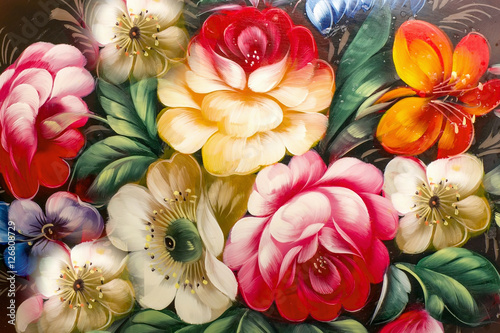 Flowers, Oil Painting, Impressionism style, Still life art color