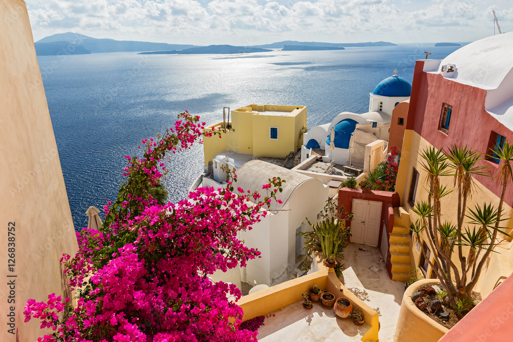 Architecture in island Santorini