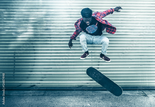 Canvas Print Skateboarder in action