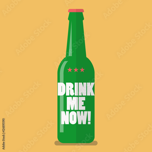 Canvas Print Beer bottle drink me now