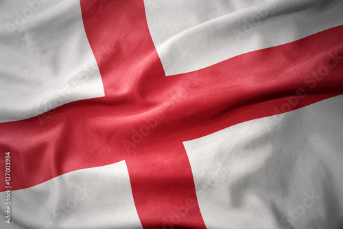 Tableau sur Toile waving colorful flag of england.