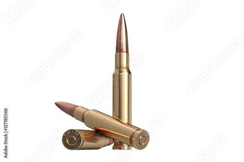 Slika na platnu Bullet rifle caliber for hunting and protection. 3D graphic