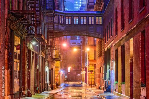 Tribeca Alley in New York Fototapeta