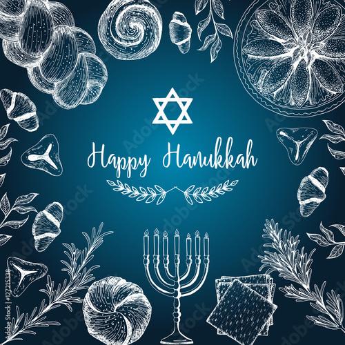 Photo Card for jewish holiday, Hanukkah
