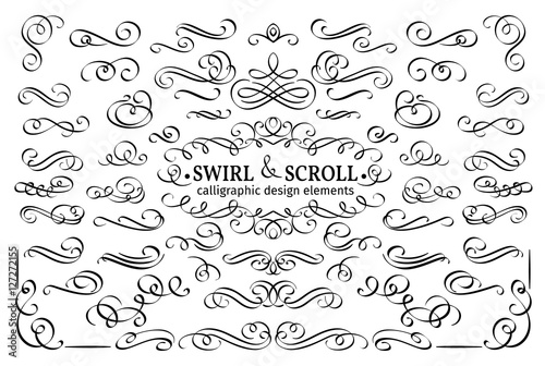 Calligraphic and page decoration design elements.