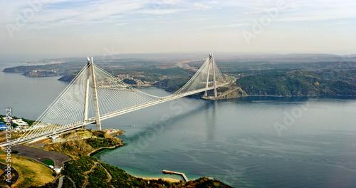 Fotografering New bosphorus bridge of Istanbul, Turkey