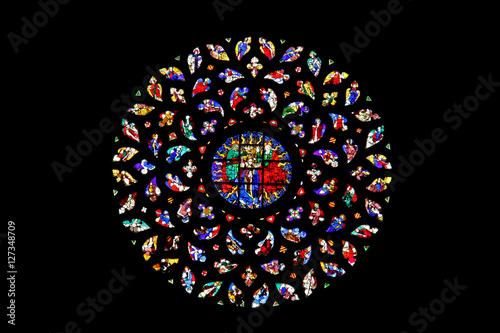 Obraz na płótnie Basilica di Santa Maria del Mar, Barcellona; vetrata del rosone
