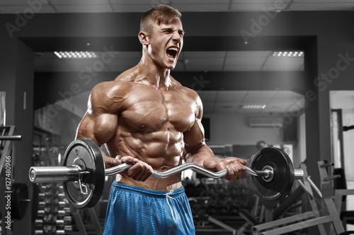 Naklejki na meble Ćwiczenia ze sztangą na biceps