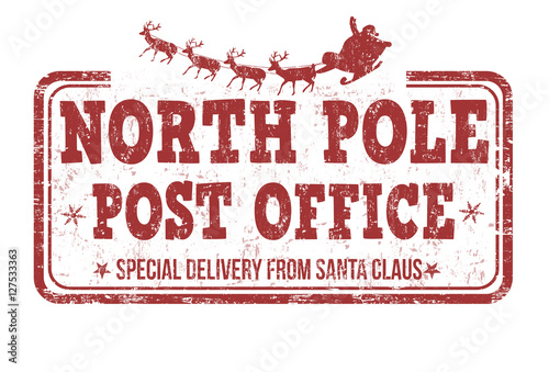 Fotografie, Obraz North Pole, post office sign or stamp