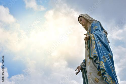 Obraz na płótnie The Virgin Mary statue