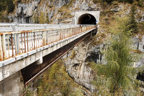 Stampa su Tela Autumn alpine landscape in the Dolomites, Italy, Europe