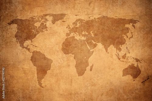 Valokuva grunge map of the world